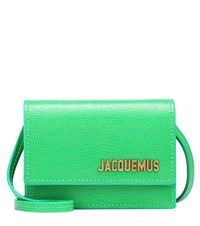 Jacquemus Le Bello Leather Crossbody Bag Green