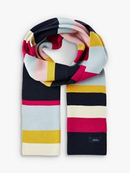 Joules Chill Away Wide Stripe Scarf Multi