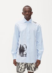 J.W.Anderson Jw Anderson 'S Durer Print Formal Shirt In Pale Blue Size 46 100 Cotton