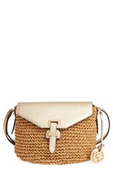 Michael Michael Kors 'Medium Naomi' Straw Crossbody Bag