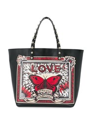 Red Valentino Stay Wild Printed Tote Black