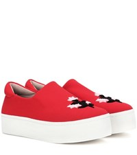 Opening Ceremony Cici Platform Slip On Sneakers Red