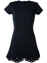 Carven Eyelet Hem Dress Black