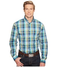Roper 0830 Water Check Plaid Blue Men's Clothing