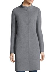Cinzia Rocca Cashmere Button Front Coat Grey