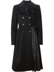 Vionnet Pleated Detail Coat Black