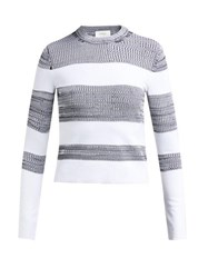 Sportmax Po Sweater White Black