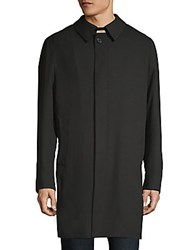 Saks Fifth Avenue Classic Cotton Raincoat Black