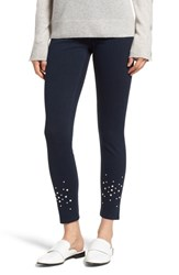 Lysse Beaded Ankle Denim Leggings Indigo