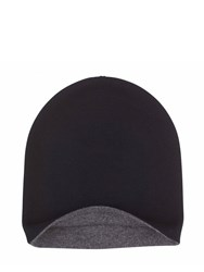 Johnstons Of Elgin Cashmere Reversible Hat Black