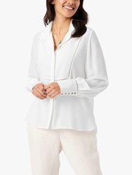 Brora Sandwashed Cut Out Silk Blouse Ivory