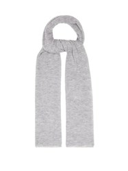 Joseph Knitted Cashmere Scarf Grey