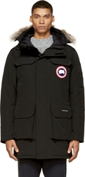 Canada Goose Black Down And Fur Citadel Parka