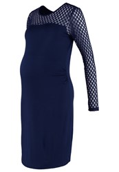 Mama Licious Mlsaka Jersey Dress Navy Blazer Dark Blue