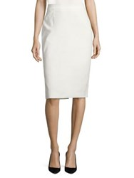 Escada Rava Stretch Cotton Pencil Skirt Off White Black