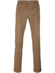 Daniele Alessandrini Slim Fit Chinos Brown