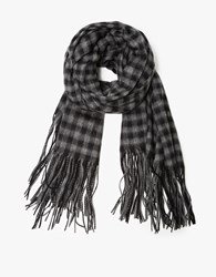 Hope Cover Scarf Grey Check