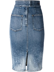 Citizens Of Humanity Splatter Effect Denim Skirt Blue