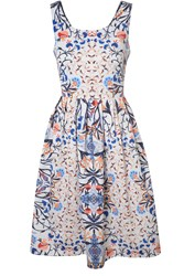 True Decadence Printed Skater Dress Black White