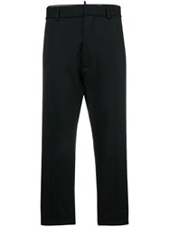 Dsquared2 Embroidered Stripe Trousers Black