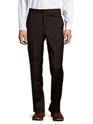 Saks Fifth Avenue Made In Italy Solid Wool Dress Pants Navy