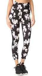 Beyond Yoga Kate Spade New York Side Bow Capri Leggings Floral Garden
