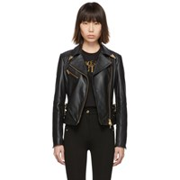 Versace Jeans Couture Black Leather Perfecto Jacket