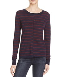 Paige Allie Stripe Sweater Midnight Bordeaux