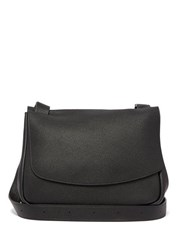 The Row Mail Small Leather Bag Black