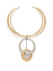 Givenchy Eclipse Two Tone Ring Necklace Gold