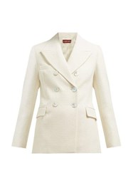 Alexachung Double Breasted Cotton Blend Blazer Cream