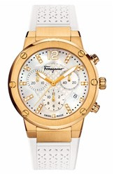 Salvatore Ferragamo Women's F80 Chronograph Rubber Strap Watch 39Mm