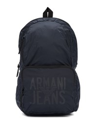 Armani Jeans Navy Blue Canvas Foldable Backpack