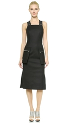 Josh Goot Zip Pocket Pencil Dress Black