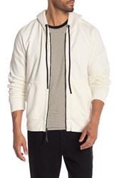 7 For All Mankind Zip Through Hoodie White