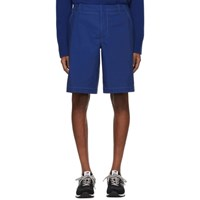 Sies Marjan Blue Cotton Canvas Sterling Shorts