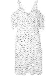 Mcq By Alexander Mcqueen Polka Dot Shift Dress Women Polyester 42 White