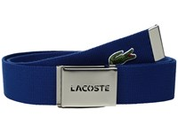 Lacoste 40Mm Woven Strap Belt Estate Blue Men's Belts Navy