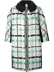 Antonio Marras Sequin Checked Coat Black