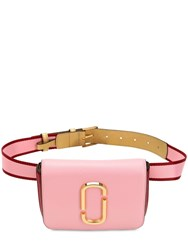 Marc Jacobs Hip Shot Leather Belt Bag Pink Red