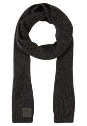 Superdry Surplus Goods Downtown Scarf Black Charcoal Twist Anthracite