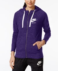 Nike Gym Vintage Full Zip Hoodie Court Purple