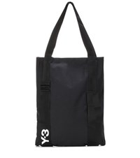 Y 3 Iconic Cotton Canvas Tote Black