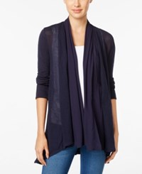 Styleandco. Style Co. Mixed Media Open Front Cardigan Only At Macy's Industrial Blue