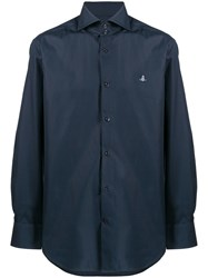 Vivienne Westwood Orb Embroidery Shirt Blue