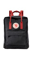 Fjall Raven Fjallraven Kanken Backpack Black Ox Red
