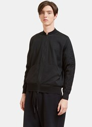 Y 3 Technical Knit Bomber Jacket Black