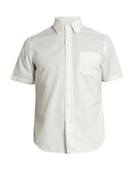 Polo Ralph Lauren Patch Pocket Cotton Seersucker Shirt White