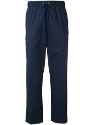 Kenzo Cropped Tapered Trousers Blue