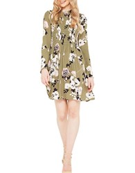 Miss Selfridge Floral Patterned Dress Dark Green